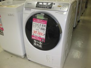 Panasonic ドラム式洗濯機入荷しました。