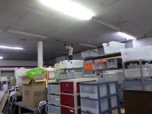 天井照明をLED化しています。 スマイルサンタ千曲戸倉店 TEL:026-214-8102